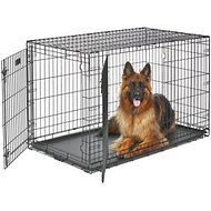 MidWest LifeStages Double Door Dog Crate, 48-in