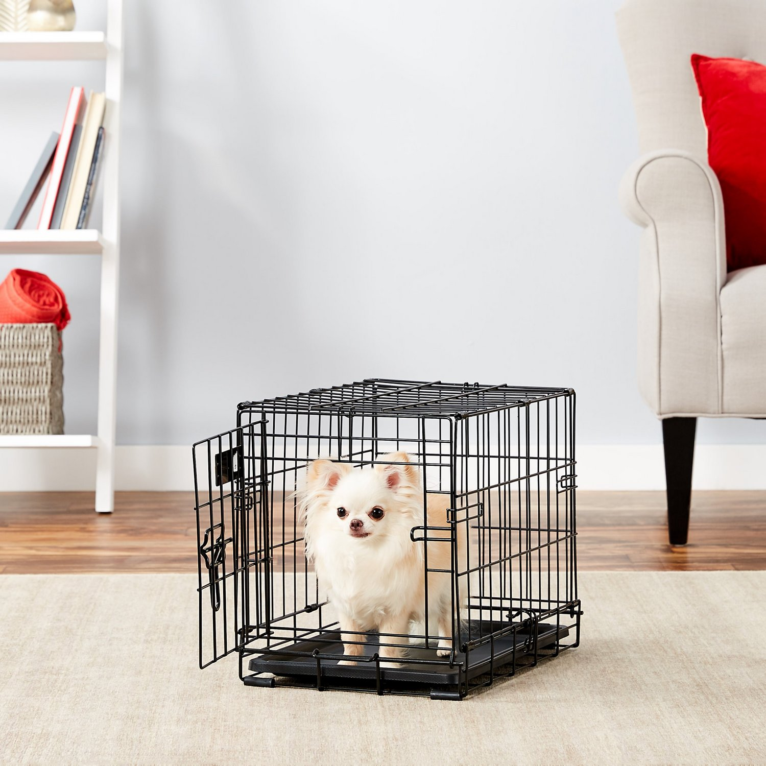 Astounding Midwest Icrate Single Door Fold Carry Dog Crate 18 In Machost Co Dining Chair Design Ideas Machostcouk
