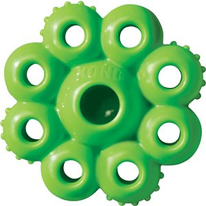 KONG Quest Star Pods Dog Toy, Color Varies, Large; Send your pup on a playful ex-paw-dition with KONG's Quest Star Pods Dog Toy! This flexible toy has a fun star-like shape that features multiple areas for you to stuff your paw-tner's favorite treats or kibble. Not only does this create a delicious challenge for your canine to conquer, but it also helps encourage his natural foraging behaviors, while extending treat time! The Quest Star Pods toy is available in two different sizes and comes in a variety of vibrant colors, which ship at random for a fun element of surprise!