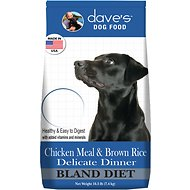 Dave's Pet Food Chicken Meal & Brown Rice Delicate Dinner Dry Dog Food, 16.5-lb bag