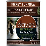 Dave's Pet Food Naturally Healthy Grain-Free Turkey Formula Canned Cat Food, 12.5-oz, case of 12