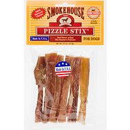 "Smokehouse 4"" Pizzle Stix Dog Treats, 6 pack"
