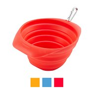 Kurgo Collaps-A-Bowl Pet Bowl, Red