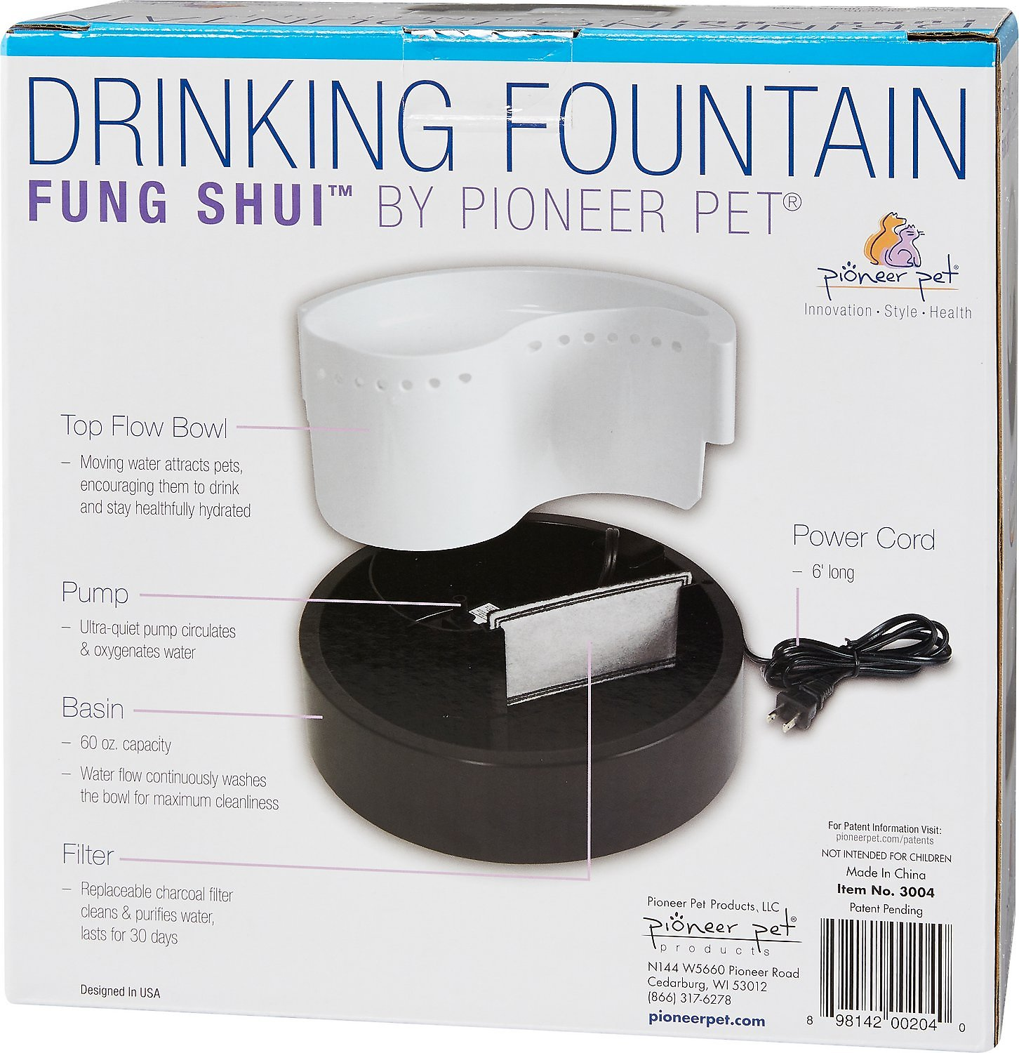 Pioneer Pet Plastic Drinking Fountain Fung Shui Design Chewycom