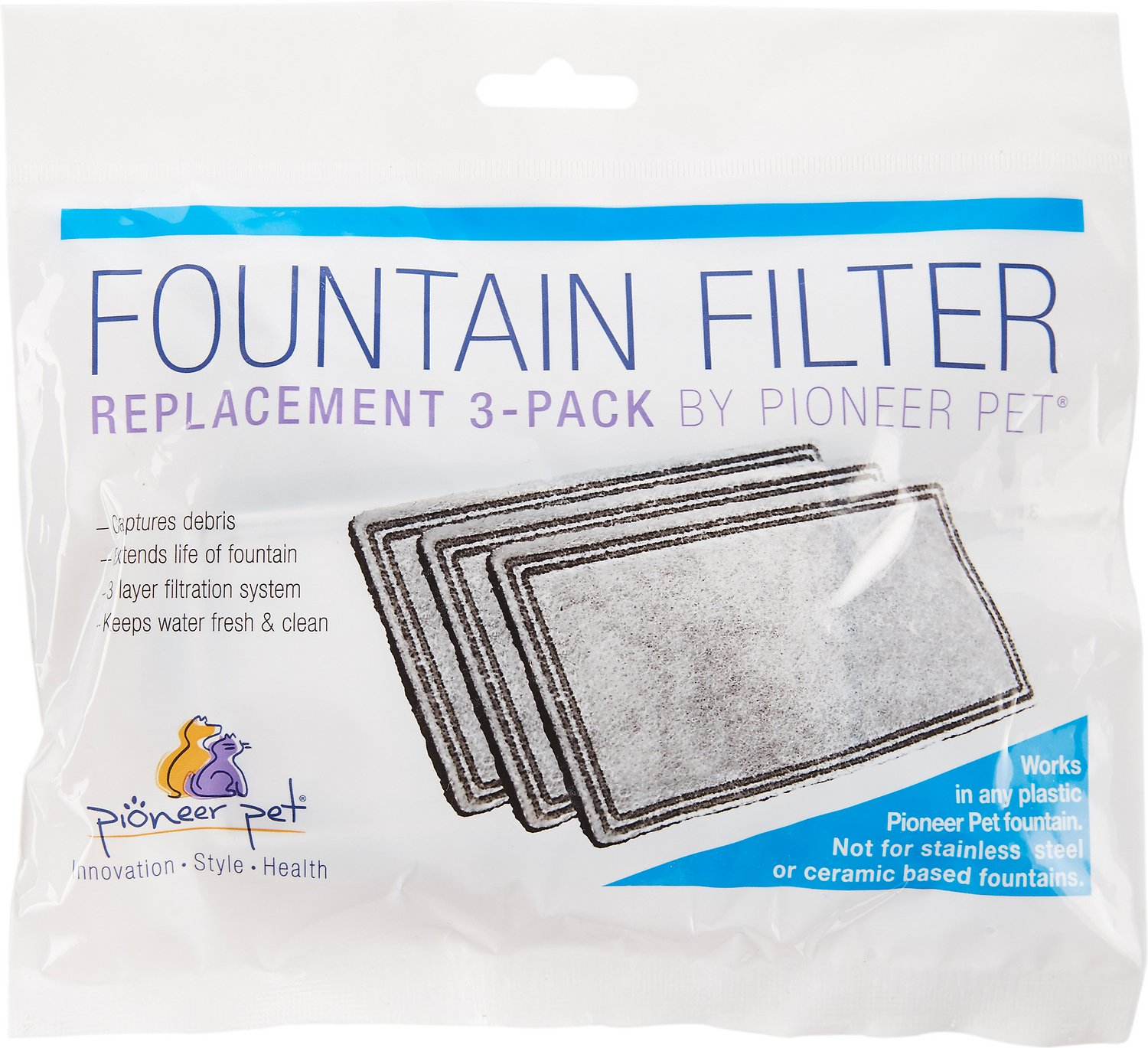 Pioneer Pet Replacement Filters For Plastic Raindrop Fung Shui