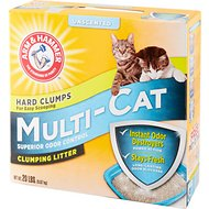 Arm & Hammer Litter Multi-Cat Strength Clumping Litter, 20-lb box