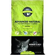World's Best Cat Litter Advanced Natural Pine Blend Clumping Formula, 12-lb bag