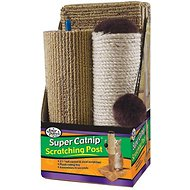 "Four Paws Super Catnip 21"" Tall Carpet & Sisal Scratching Post"