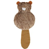 Busy Buddy Pogo Plush Beaver Dog Toy, Small