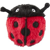 Busy Buddy Pogo Plush Ladybug Dog Toy, Small