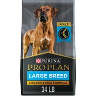 Purina Pro Plan Adult Large Breed Chicken & Rice Formula Dry Dog Food, 34-lb bag
