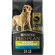 Purina Pro Plan Adult Large Breed Weight Management Chicken & Rice Formula Dry Dog Food, 34-lb bag