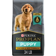 Purina Pro Plan Puppy Chicken & Rice Formula Dry Dog Food, 34-lb bag