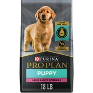 Purina Pro Plan Puppy Lamb & Rice Formula Dry Dog Food, 18-lb bag