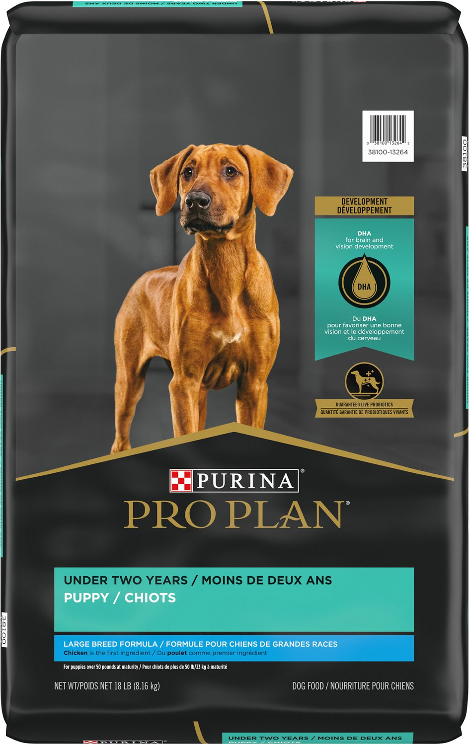 Purina Pro Plan Puppy Large Breed Chicken Rice Formula With Probiotics Dry Dog Food 18 Lb Bag Chewy Com