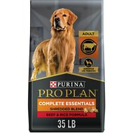Purina Pro Plan Savor Adult Shredded Blend Beef & Rice Formula Dry Dog Food, 35-lb bag