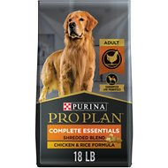 Purina Pro Plan Adult Shredded Blend Chicken & Rice Formula Dry Dog Food, 18-lb bag