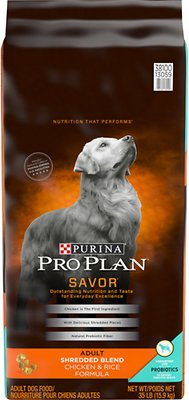 8. Purina Pro Plan Savor Adult Shredded Blend Dry Dog Food