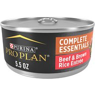 Purina Pro Plan Savor Adult Classic Beef & Brown Rice Entree Canned Dog Food, 5.5-oz, case of 24