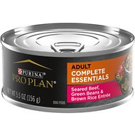 Purina Pro Plan Savor Adult Seared Beef, Green Beans & Brown Rice Entree in Gravy Canned Dog Food, 5.5-oz, case of 24