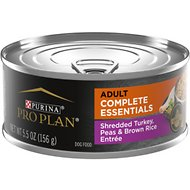 Purina Pro Plan Savor Adult Shredded Turkey, Peas & Brown Rice Entree in Gravy Canned Dog Food, 5.5-oz, case of 24