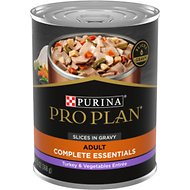 Purina Pro Plan Savor Adult Turkey & Vegetables Entree Slices in Gravy Canned Dog Food, 13-oz, case of 12