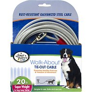 Four Paws Super Weight Tie Out Cable, 20-ft
