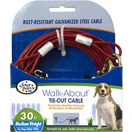 Four Paws Medium Weight Tie Out Cable, 30-ft
