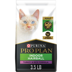 Purina Pro Plan Focus Adult Indoor Care Turkey & Rice Formula Dry Cat Food, 3.5-lb bag
