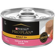 Purina Pro Plan Focus Adult 11+ Classic Salmon & Tuna Entree Canned Cat Food, 3-oz, case of 24