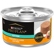 Purina Pro Plan Focus Kitten Classic Chicken & Liver Entree Canned Cat Food, 3-oz, case of 24