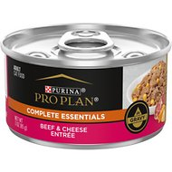 Purina Pro Plan Savor Adult Beef & Cheese Entree in Gravy Canned Cat Food, 3-oz, case of 24