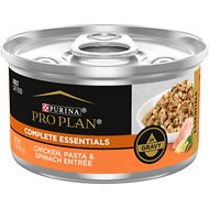 Purina Pro Plan Chicken, Pasta & Spinach Entree in Gravy Canned Cat Food, 3-oz, case of 24