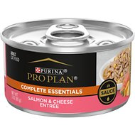 Purina Pro Plan Savor Adult Salmon & Cheese Entree in Sauce Canned Cat Food, 3-oz, case of 24