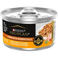 Purina Pro Plan Savor Adult White Meat Chicken & Vegetable Entree in Gravy Canned Cat Food, 3-oz, case of 24
