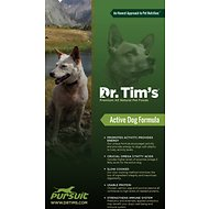 Dr. Tim's Pursuit Active Dog Formula Dry Dog Food, 44-lb bag