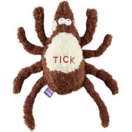 Multipet Flea & Tick Plush Dog Toy, Small Tick