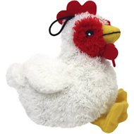 Multipet Look Who's Talking Chicken Plush Dog Toy