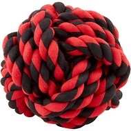 Multipet Nuts for Knots Ball Dog Toy, Color Varies, Large
