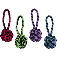 Multipet Nuts for Knots Heavy Duty Rope with Tug Dog Toy, Color Varies, Medium