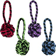 Multipet Nuts for Knots Heavy Duty Rope with Tug Dog Toy, Color Varies, Large
