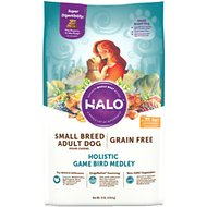 Halo Holistic Game Bird Medley Grain-Free Small Breed Dry Dog Food, 10-lb bag
