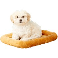 MidWest Quiet Time Fleece Pet Bed and Crate Mat, Cinnamon, 18-in