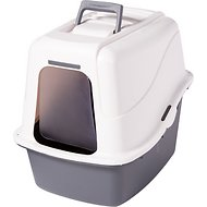 Petmate Deluxe Hooded Litter Pan Set with Microban, Color Varies, Large