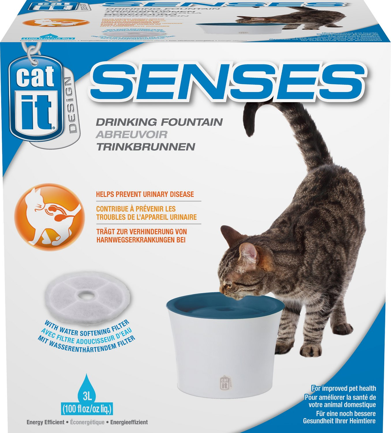 Catit Design Senses Drinking Fountain, 100-oz - Chewy.com