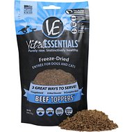 Vital Essentials Beef Freeze-Dried Raw Dog & Cat Food Topper, 6-oz bag