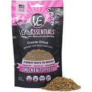 Vital Essentials Chicken Freeze-Dried Raw Dog & Cat Food Topper, 6-oz bag
