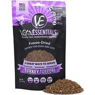 Vital Essentials Turkey Freeze-Dried Raw Dog & Cat Food Topper, 6-oz bag