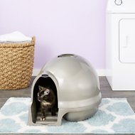 Booda Dome Cleanstep Litter Box, Nickel