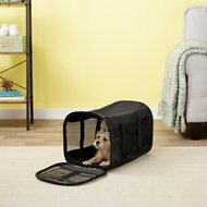 Petmate Soft Sided Pet Kennel Cab & Carrier, Large Black